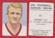 Bayern Munich Werner Olk West Germany 231